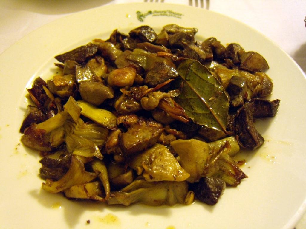 Ristorante Anticha Boheme 鶏の砂肝の炒め物