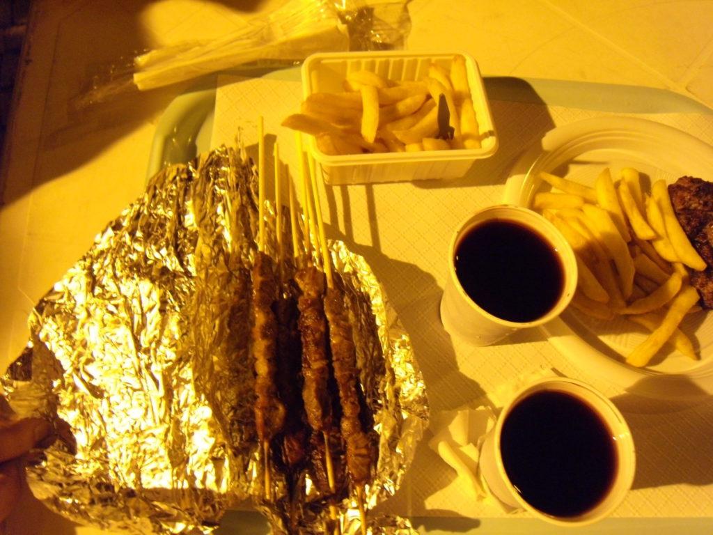 Giostra Cavalleresca 出店の食事