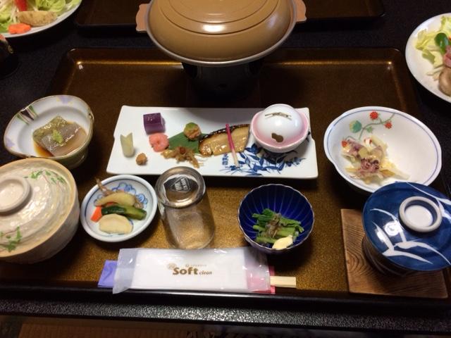 栄光館 夕食のお膳