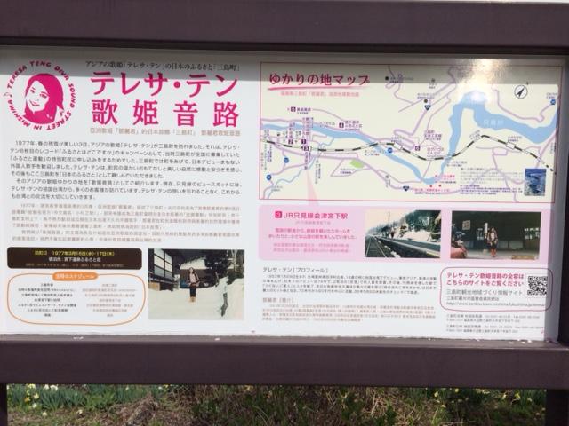 会津宮下駅の看板