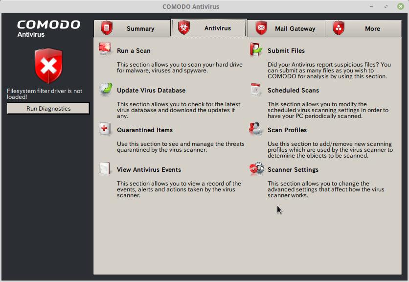 Comodo Antivirus for Linuxスクリーンショット2