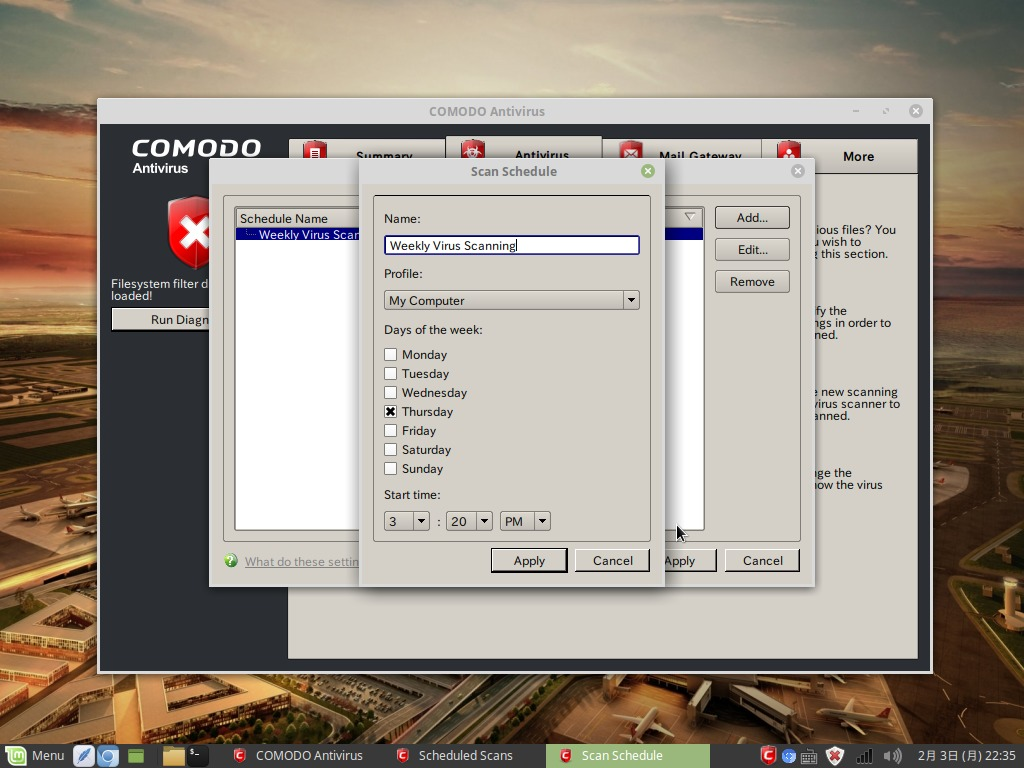 Comodo Antivirus for Linuxスクリーンショット5
