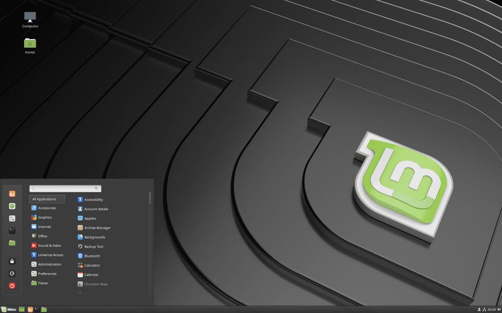 Linux Mint 19.3 デスクトップ