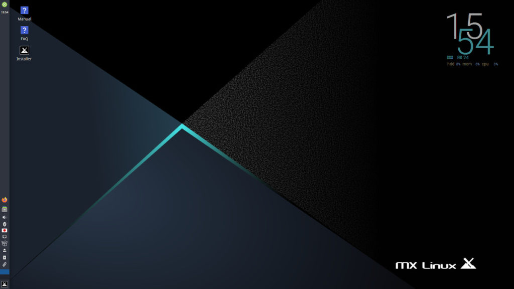 MX Linuxインストール画面