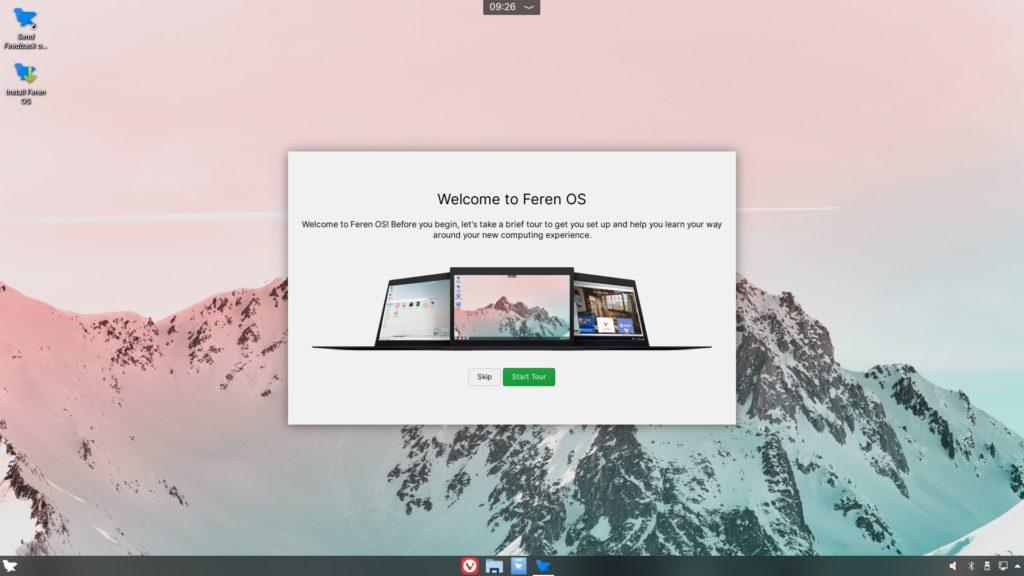 Feren OS ライブ画面
