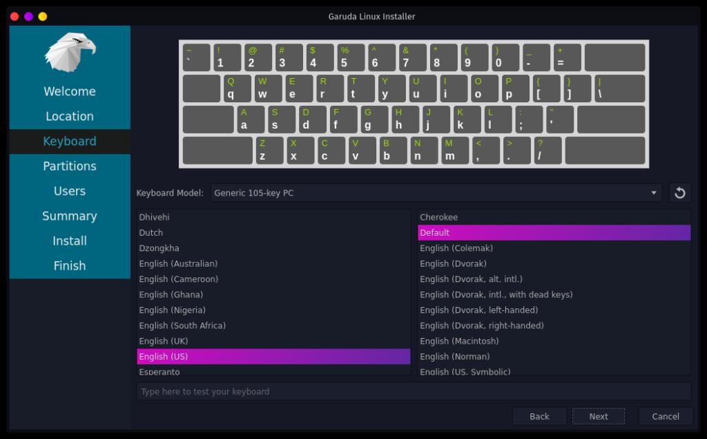 Garuda Linux インストーラ3