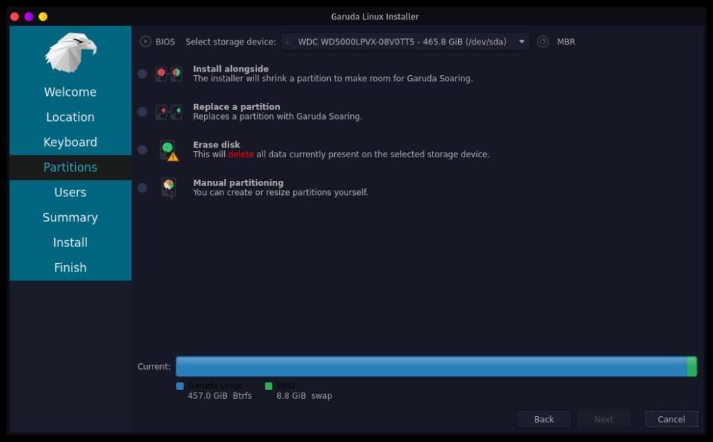 Garuda Linux インストーラ4