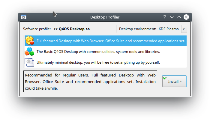Q4OS Desktop Profiler