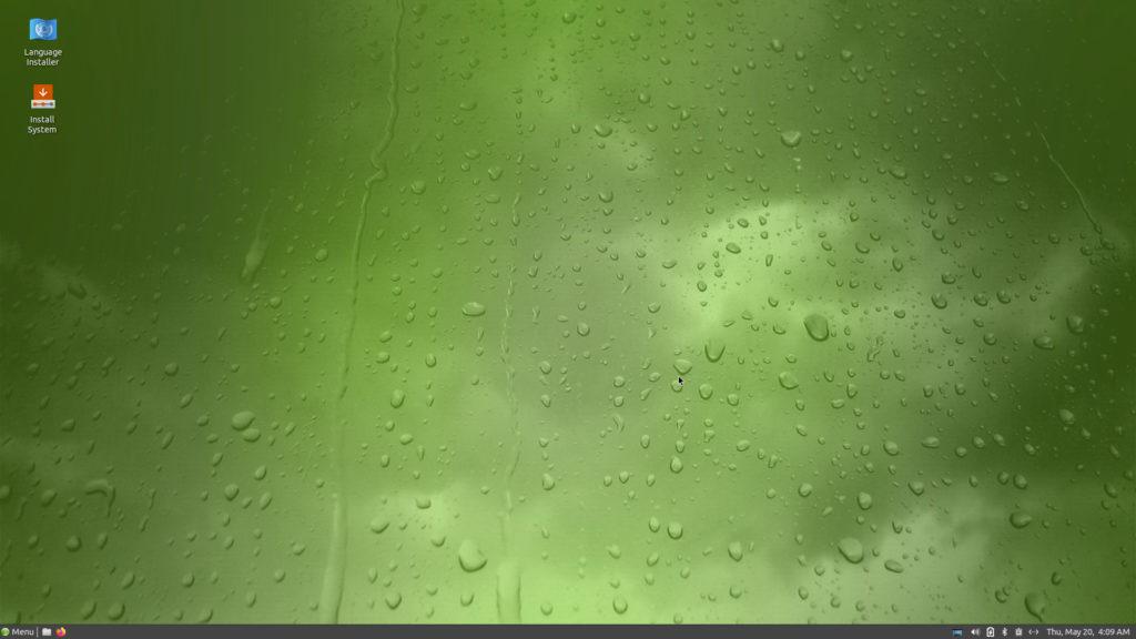 GeckoLinuxライブ画面